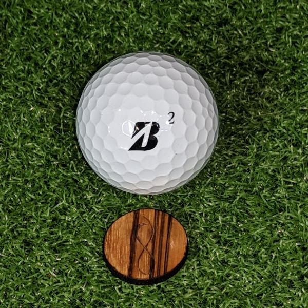 Original Zebrawood Ball Marker