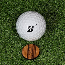 Load image into Gallery viewer, Zebrawood Ball Marker on the green