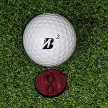 Load image into Gallery viewer, Purpleheart Ball Marker on the green