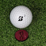 Purpleheart Ball Marker on the green