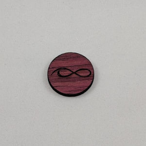 Purpleheart Ball Marker close-up