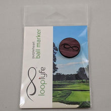 Load image into Gallery viewer, Purpleheart Ball Marker in packaging