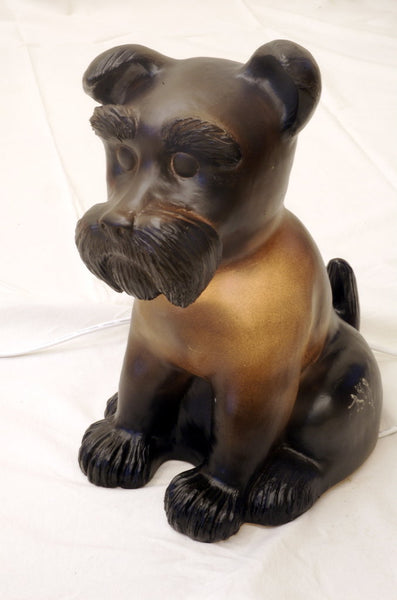 Dog Table Lamp - Black Diego the Lovable Schnauzer