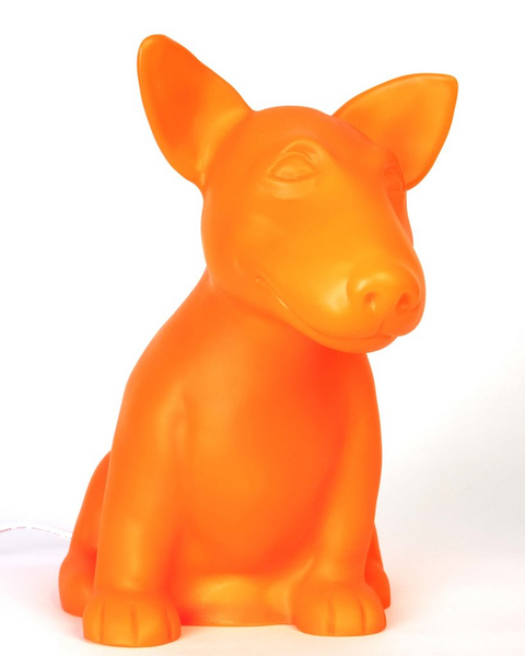Dog Table Lamp - Orange Onion the Cute Bull Terrier