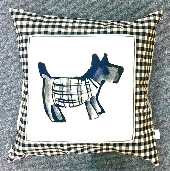 Hand Made Tartan Gingham Dog Cushion