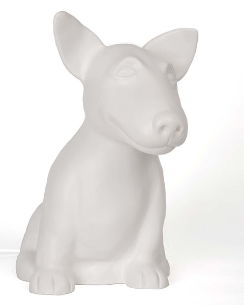 Dog Table Lamp - White Onion The Cute Bull Terrier
