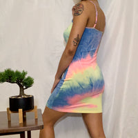 TIE DYE DRESS / SIZE L LEFT