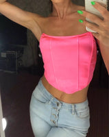 Pretty in Pink Crop Top / SIZE S-L