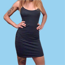 Load image into Gallery viewer, BLACK BODYCON DRESS / SIZE S-L