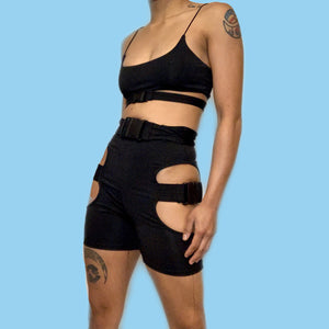 CUT OUT BIKER SET / SIZE S-L