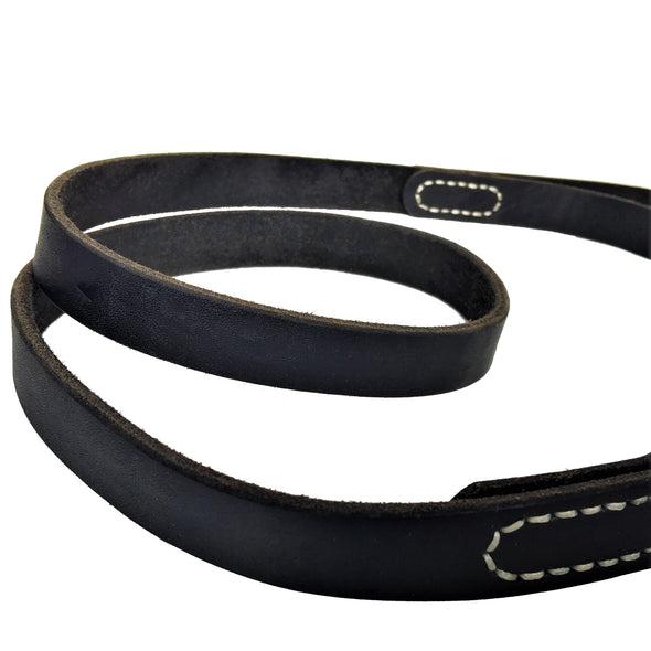 Genuine Leather Dog Leash - Black