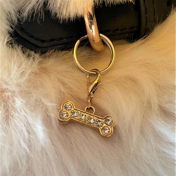 Sparkly Gold Bone Charm
