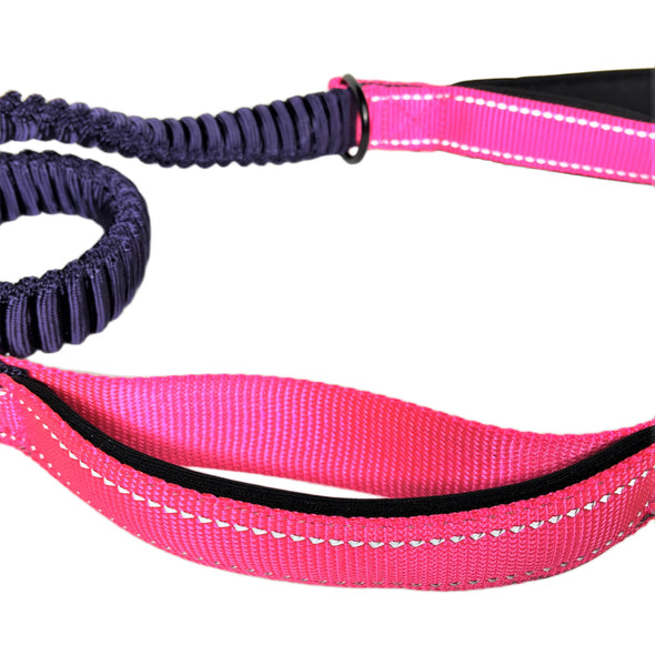 Bungee Stretch Leash Pink Bottom Handle