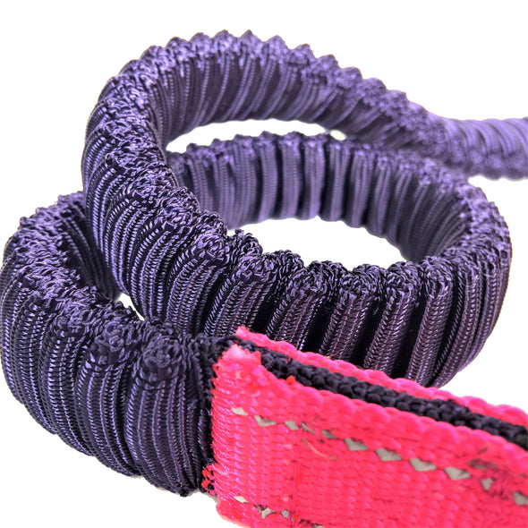 Bungee Stretch Leash Pink Cord