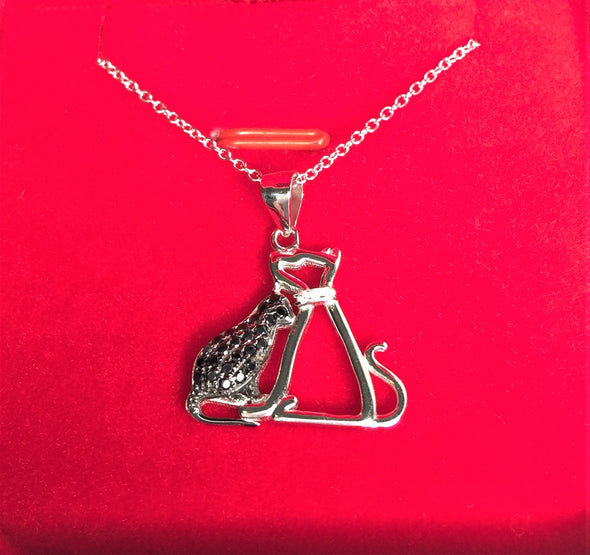 Necklace Cat and Dog Sterling Silver