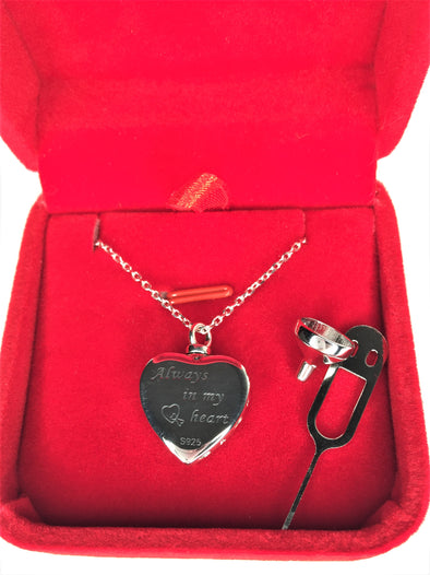 Dog Cremation Necklace Paw Boxed