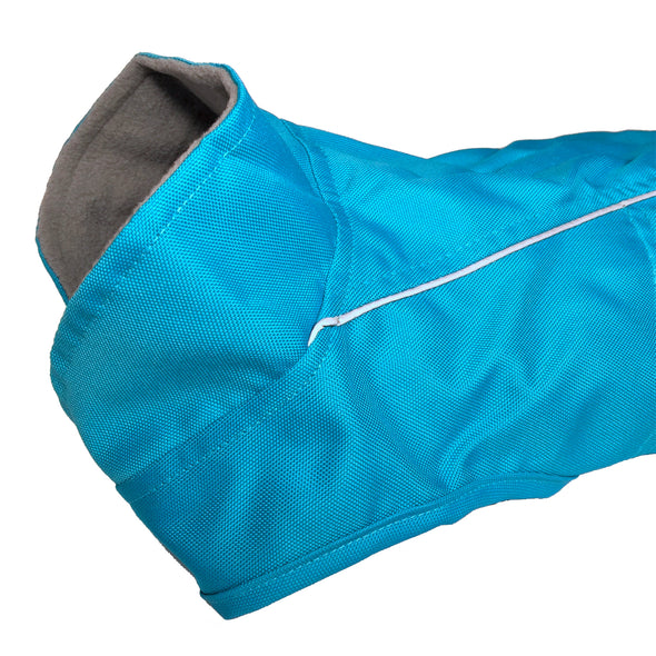 Dog Raincoat Blue Side View
