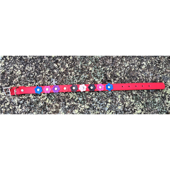 Flower Dog Collar Red Outdoors