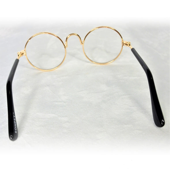 Glasses for Dog or Cat Gold Rim Back
