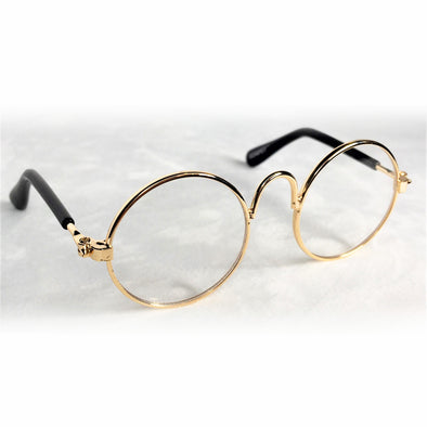 Glasses for Dog or Cat Gold Rim Front