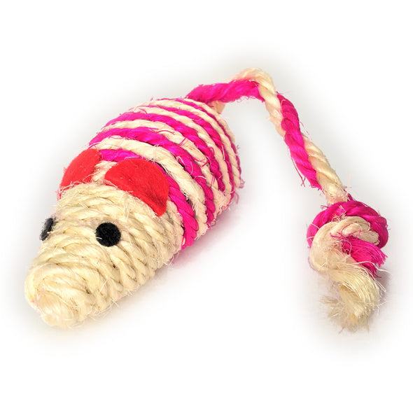 Jute Twine Mouse Pink Left