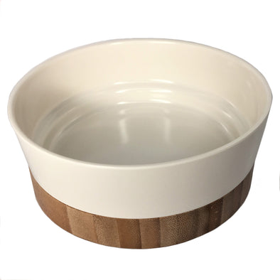 Melamine Bowl with Bamboo Base