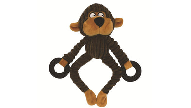 Monkey plush squeaky soft dog toy