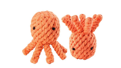 Octopus Dog Chew Toy - 100% Cotton Rope