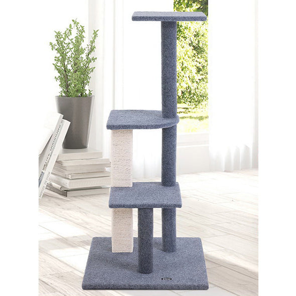 124 cm Cat Scratching Post - Grey
