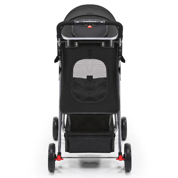 4 Wheel Pet Stroller - Black