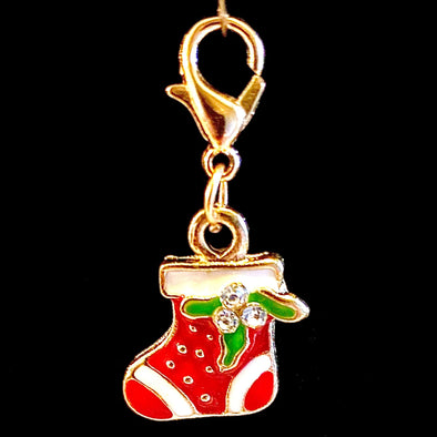 Sparkly Christmas Stocking Charm