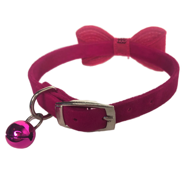 Sparkly Bow Tie Collar Pink Bell