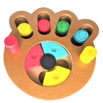 Treat Puzzle for Dog Paw Shape Front