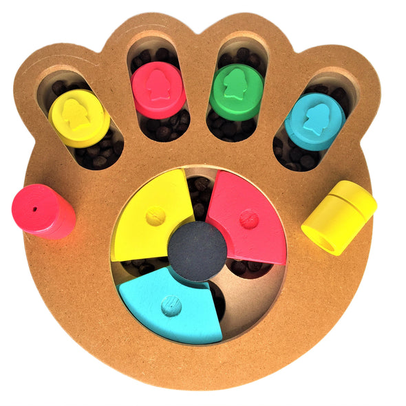Treat Puzzle for Dog Paw Shape with Treats