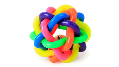 Rainbow knot dog chew toy Natural Rubber