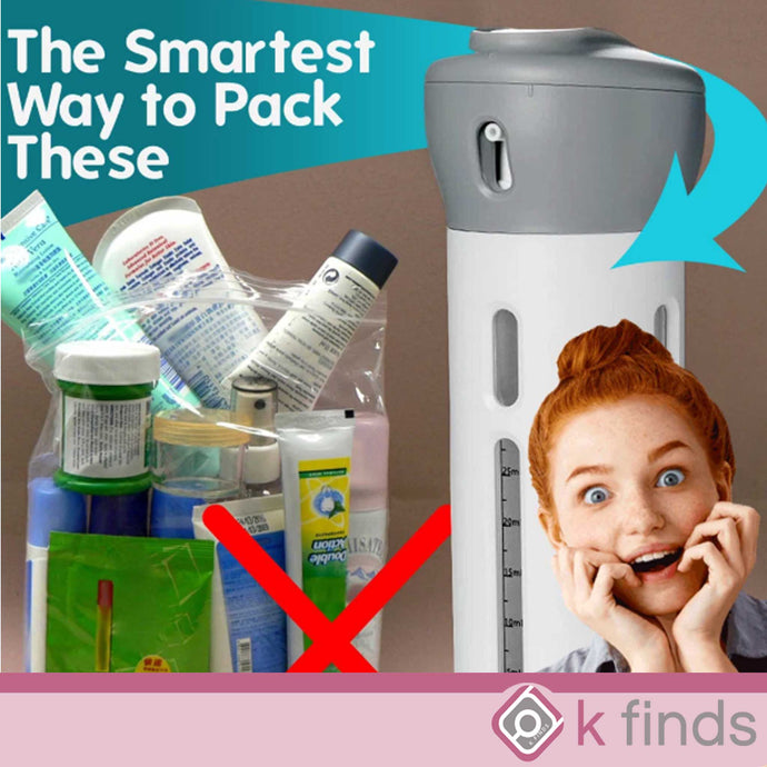 4-in-1 Smart Travel Liquid Bottle Dispenser