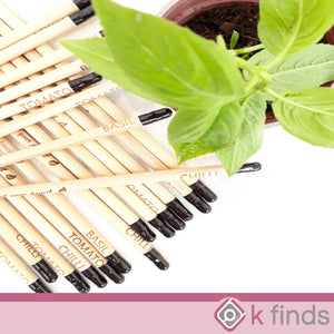 Plantable Seed Pencil with Engraved Seed Name 3PCS 6PCS (with Sleeves)