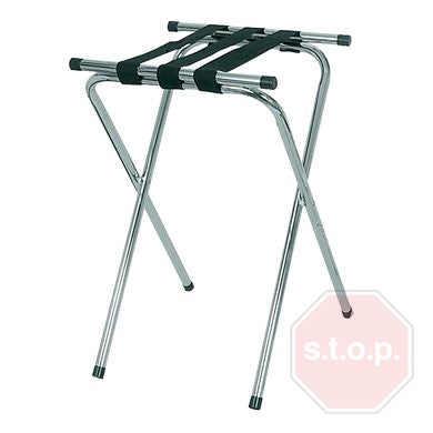 Chrome-Plated Tray Stand