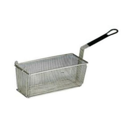 Fryer Basket w/ Coated Handle & Front Hook