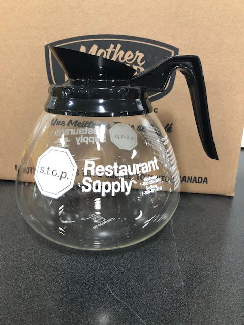s.t.o.p. Logo Coffee Decanters