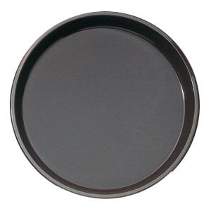 "11"" Black Round Polythread Tray"