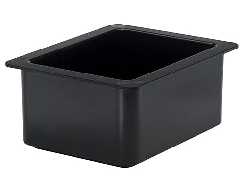"1/2 Size Black Coldfest Food Pan 6"" Deep"