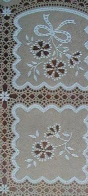 Vinyl Lace Tablecloth Beige