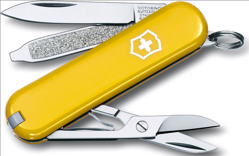 Knife Swiss Army, Classic Yellow