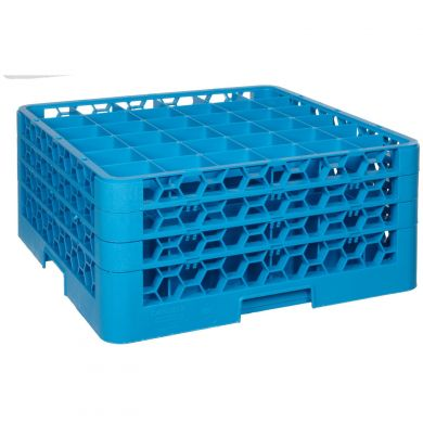 25 Compartment Glass Rack With 4 Extenders