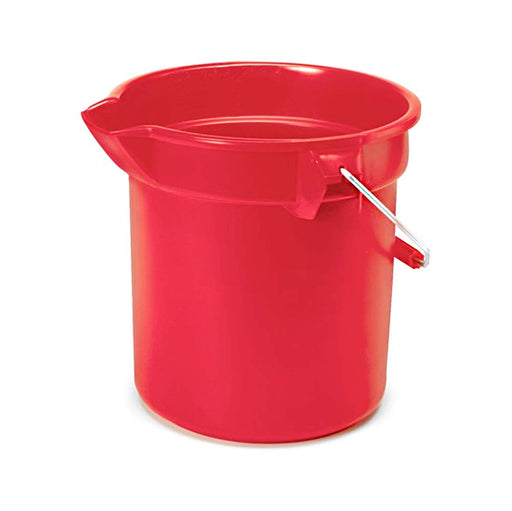 Rubbermaid Commercial Brute Round Bucket, 14 Quart, Red, FG261400RED