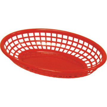 "Oval Basket Red 9.5""x6""x2"""