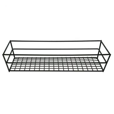 Rectangular Tabletop Basket, Black