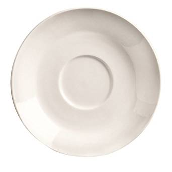 "Basics Bright White 6"" Saucer"