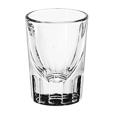 1.5 oz. Fluted Whiskey / Shot Glass with .75 oz. Cap Line
